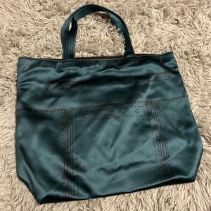 YSL dark teal tote bag